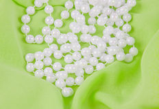 Beads from white pearls Royalty Free Stock Images