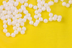 Beads from white pearls Royalty Free Stock Image