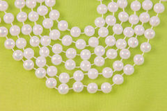 Beads from white pearls Stock Photography