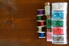 Beads and wire crafts Royalty Free Stock Photos