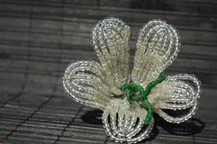 Beadwork flower Royalty Free Stock Images