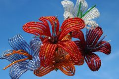 Beadwork flowers Royalty Free Stock Photography