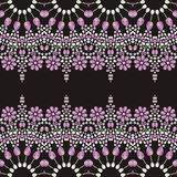 Beadwork, handmade, hand embroidery. Beautiful jewelry fabric, shawl, wallpaper. Stock Photo