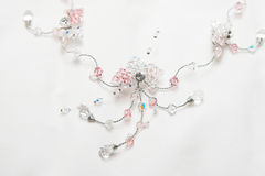Beadwork Necklace. Soft pink beadwork necklace for the bride Royalty Free Stock Image