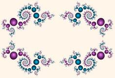 beadworkkant vektor illustrationer