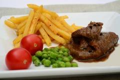 Beaf Steakabendessen Lizenzfreie Stockbilder