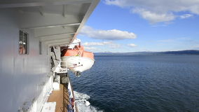 Beagle channel  leaving the port stock video