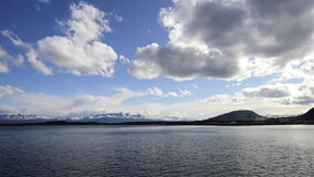 Beagle channel  leaving the port stock footage