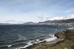 Beagle Channel looking towards Ushuaia Stock Image