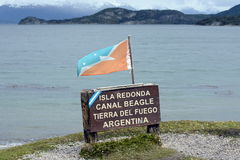 The Beagle channel in the national Park of Tierra del Fuego. stock image