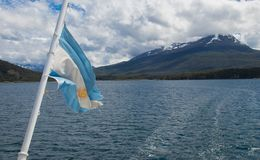The Beagle Channel Near the City of Ushuaia royalty free stock photography