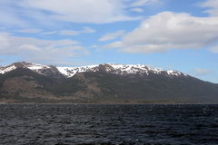 The Beagle channel separating the main island of the archipelago of Tierra del Fuego and lying to the South of the island. Stock Image