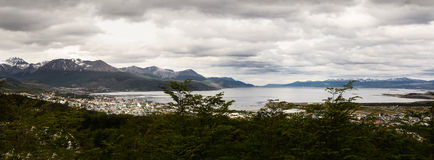 Beagle channel and Ushuaia Argentina Stock Photo