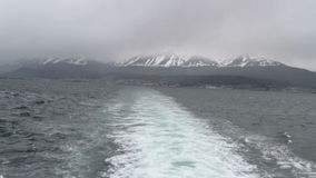 Beagle Channel, Ushuaia, Argentina stock video