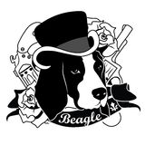 Beagle Portrait.  Vector Illustration Stock Images