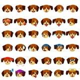 Beagles Dog Emoji Emoticon Expression. A vector illustration of Beagles Dog Emoji Emoticon Expression Royalty Free Stock Photos