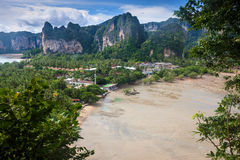 Beaitiful beach and limestone landscape at Railay Royalty Free Stock Photo