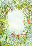 beak dekoracyjnego latającego ilustracyjnego wizerunek swój papierowa kawałka dymówki akwarela Zdjęcia Stock