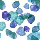 beak dekoracyjnego latającego ilustracyjnego wizerunek swój papierowa kawałka dymówki akwarela Wzór przejrzyści kamienie błękitni Fotografia Stock