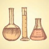 Beaker эскиза в винтажном стиле Стоковое Фото