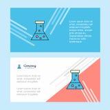 Beaker abstract corporate business banner template, horizontal advertising business banner stock illustration