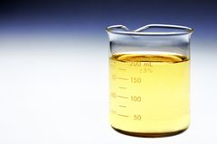 Beaker of bio fuel Stock Photo