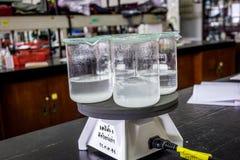Beaker boilling Стоковое Фото