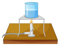 Beaker and burner. Illustration of a beaker and a burner royalty free illustration