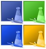 Beaker and dropper Royalty Free Stock Images