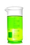 Beaker isolated. Laboratory glassware royalty free stock image