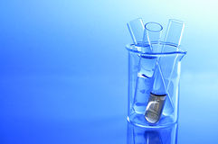 Beaker and tube Stock Photo