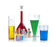 Beakers, test-tubes and laboratory glassware Royalty Free Stock Photography