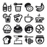 Beakfast flat icons.  Stock Image