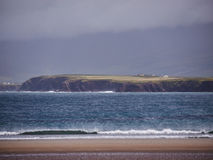 Beal Bán Beach, Dingle, Ireland. The beach of Beal Bán on a rainy and windy day royalty free stock image