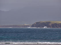 Beal Bán Beach, Dingle, Ireland. The beach of Beal Bán on a rainy and windy day stock photography