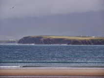Beal Bán Beach, Dingle, Ireland. The beach of Beal Bán on a rainy and windy day stock photos