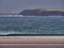 Beal Bán Beach, Dingle, Ireland. The beach of Beal Bán on a rainy and windy day Stock Photo