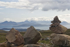 Bealach na Ba Cairns Royalty Free Stock Photography