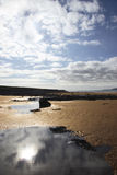 Beale beach rising. West of ireland beach in the morning stock image