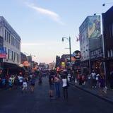 Beale gata i i stadens centrum Memphis Fotografering för Bildbyråer