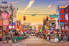 beale Memphis ulica obrazy royalty free