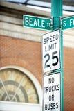 Beale street Stock Photography