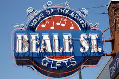 Beale street Memphis Royalty Free Stock Photos