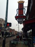 Beale street Memphis Tennessee Royalty Free Stock Image