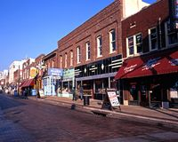 Beale Street, Memphis. Stock Images