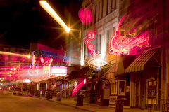 Beale Streetin街市孟菲斯,田纳西(摘要) 免版税库存照片