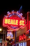Beale Streetin街市孟菲斯,田纳西 图库摄影