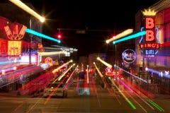 Beale Streetin στο κέντρο της πόλης Μέμφιδα, Τένεσι (περίληψη) Στοκ Φωτογραφίες
