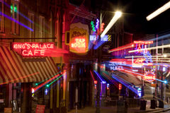 Beale Streetin Downtown Memphis, Tennessee (abstract) Royalty Free Stock Images
