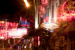 Beale Streetin Downtown Memphis, Tennessee (abstract) Royalty Free Stock Image